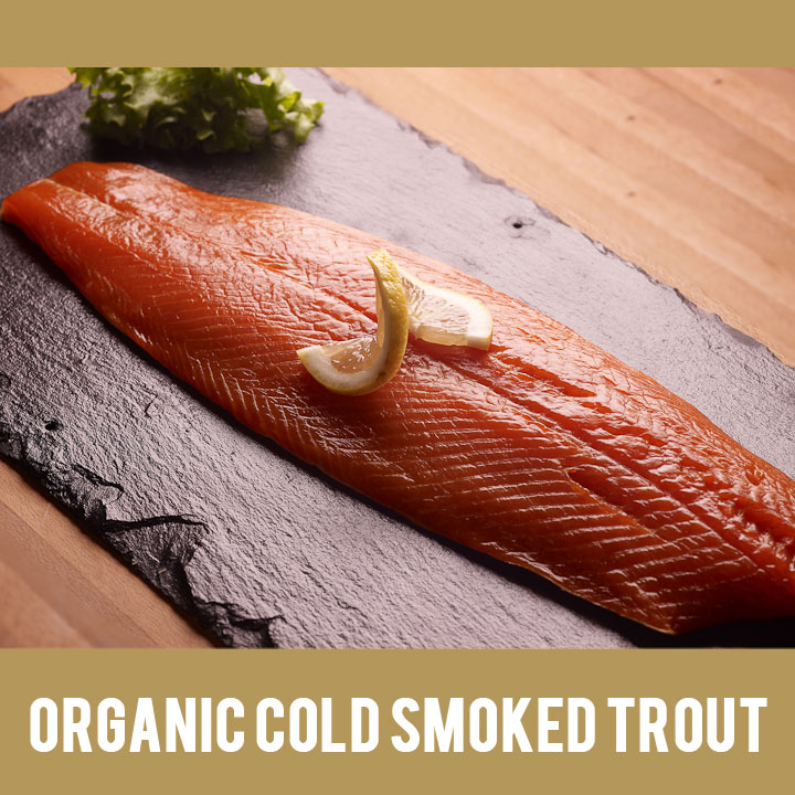Buy Irish Organic Cold Smoked Trout from Duncannon Smokehouse, Wexford, Ireland