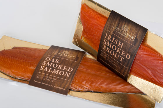 Sustainable Oak Smoked Salmon and Trout from Duncannon Smokehouse, Wexford, Ireland